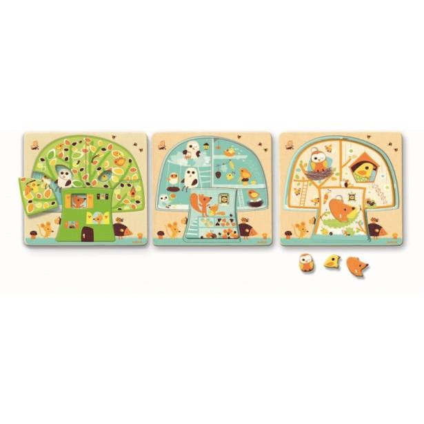 Puzzle lemn Djeco - copacul