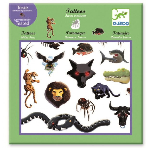 Tatuaje Djeco - Animale fioroase