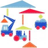 Decoratie mobila camera copil Djeco - Vehicule