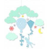 Decoratie mobila camera copil Djeco - Printre nori