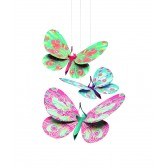 Decoratie camera copil Djeco - fluturi sclipitori
