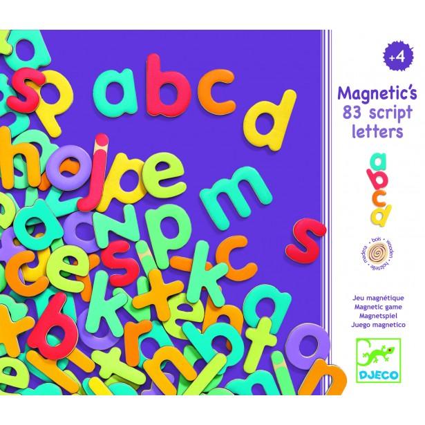 83 Litere magnetice colorate de tipar mici - Djeco