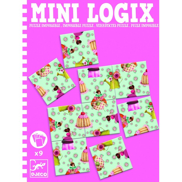 Mini logix Djeco - puzzle imposibil printese