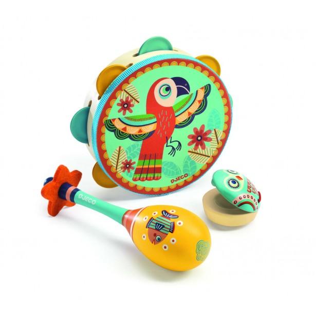 Set instrumente muzicale pentru copii Animambo de la Djeco