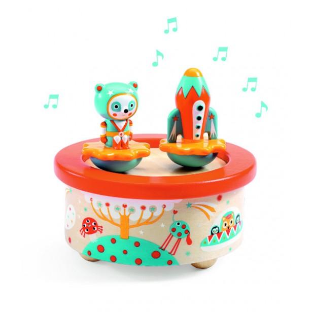 Cutie muzicala magnetica Djeco - Spatiu