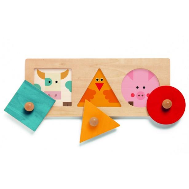 Puzzle Djeco - forme geometrice BigaBasic