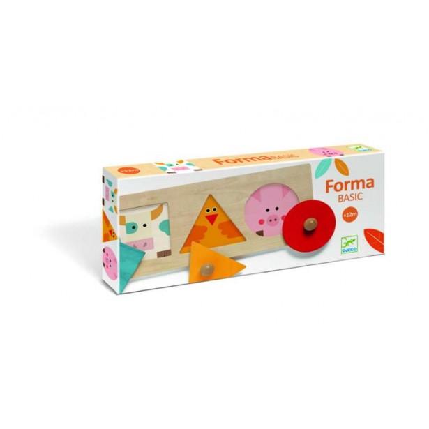 Boita Basic Djeco - cutia formelor