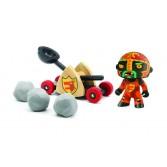 Pirat Baldy&big paf - Colectia Arty toys - Djeco