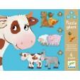 Puzzle gigant Djeco - animale de ferma