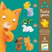 Puzzle gigant Djeco - animale de companie