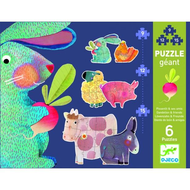 Puzzle gigant Djeco - animale domestice