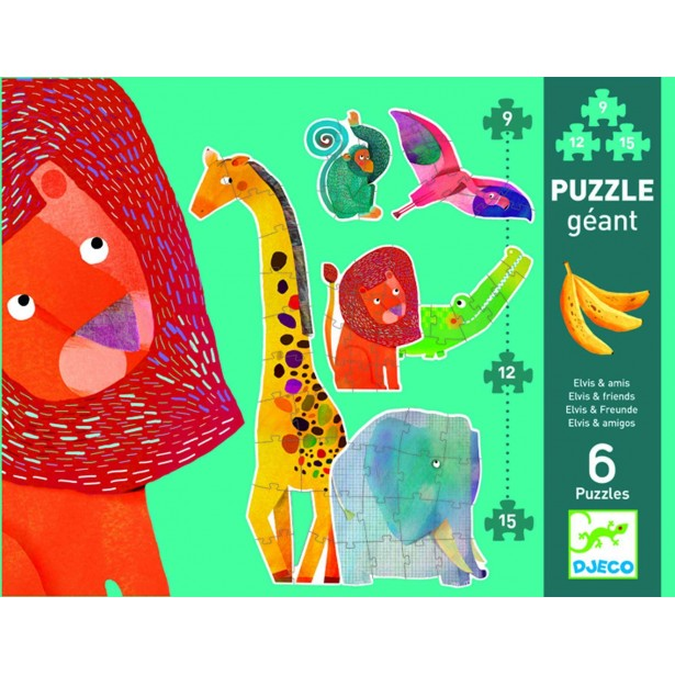 Puzzle gigant Djeco - animale jungla