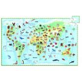 Puzzle observatie Djeco - Animalele lumii