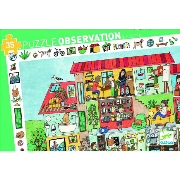 Puzzle observatie Djeco - Casa