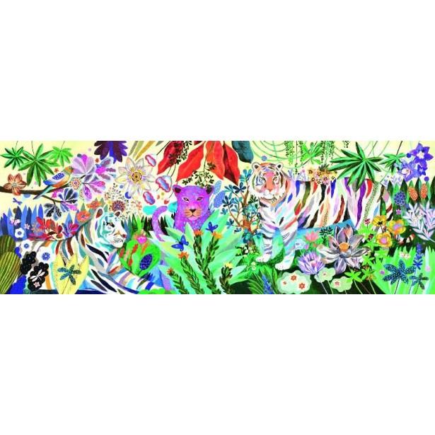 Puzzle Djeco - Tigrii curcubeu 1000 piese