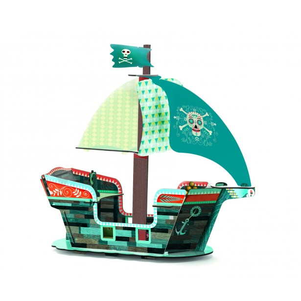 Macheta 3D Djeco - Corabia piratilor