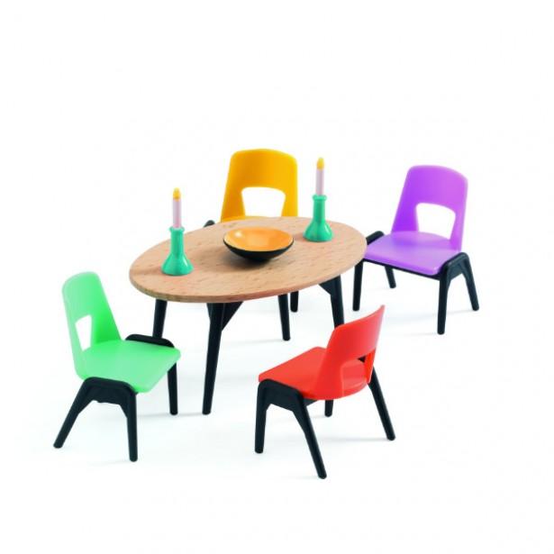Mobila papusi Dining Djeco - joc de rol