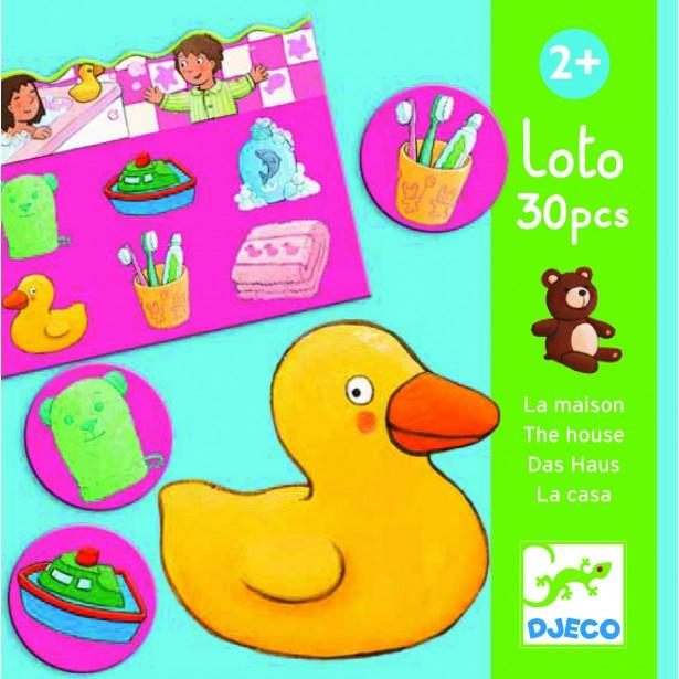 Joc asociativ Loto Djeco cu obiecte