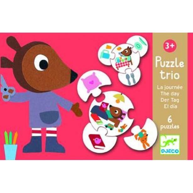 Puzzle trio Djeco - activitati copii