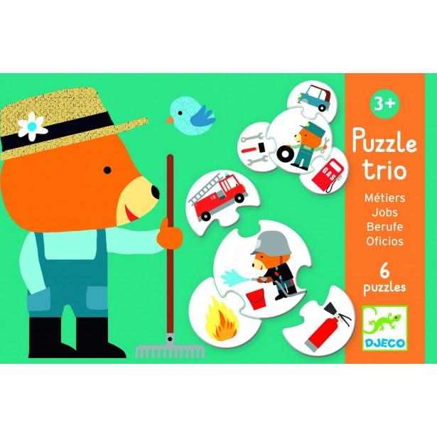Puzzle trio Djeco - meserii