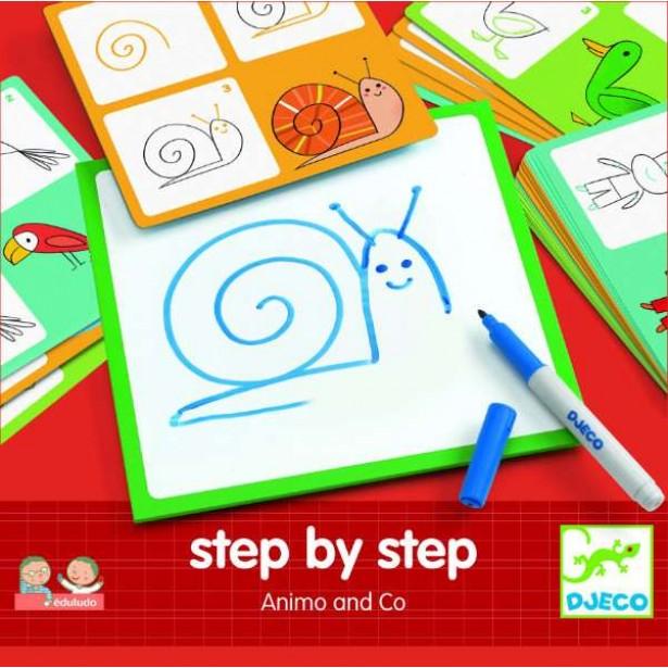 Deseneaza pas cu pas Djeco - animale &co
