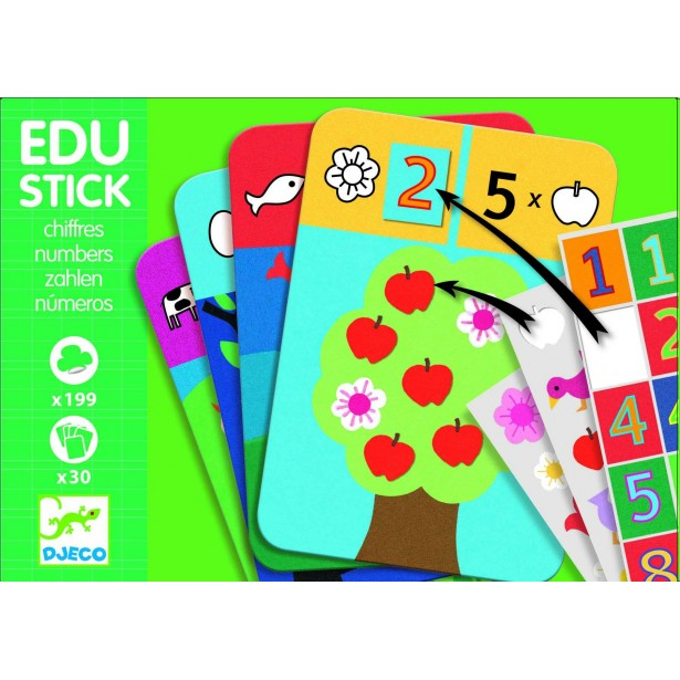Edu-Stick Djeco - Stickere educative cu Numere