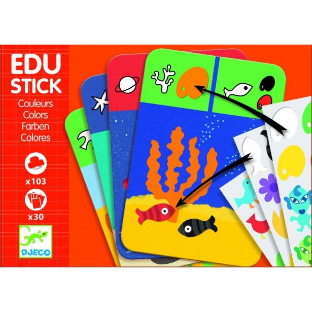 Edu-Stick Djeco - Stickere educative Culori
