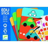 Edu-Stick Djeco - Stickere educative cu forme geometrice