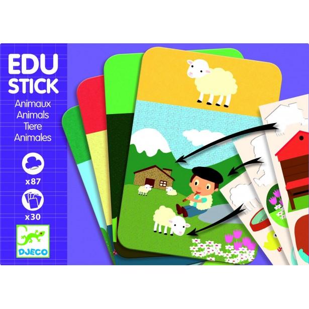 Edu-Stick Djeco - Stickere educative cu Animale