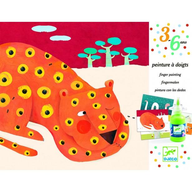 Pictura cu degetele Djeco - Animale