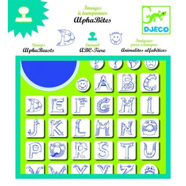 Set stampile Djeco - Alfabet