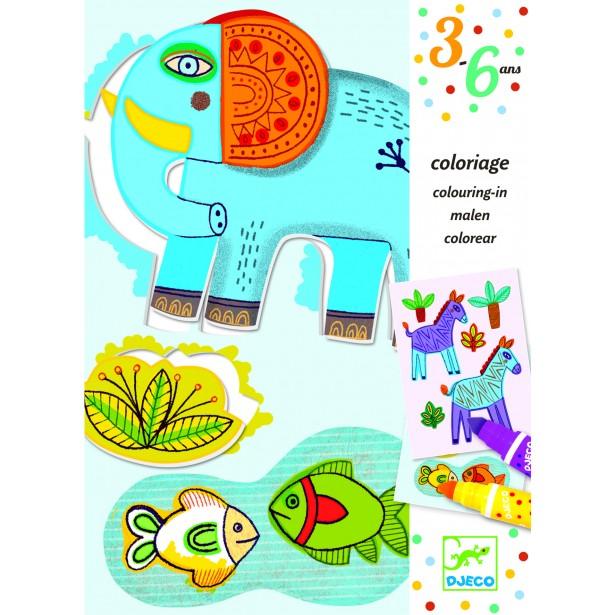 Atelier de desen pentru copii Djeco - ZooZoo