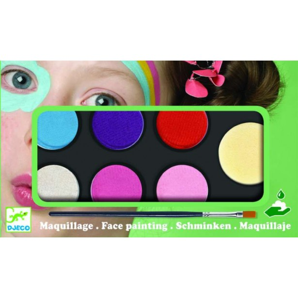 Culori make-up non alergice Djeco - pastel
