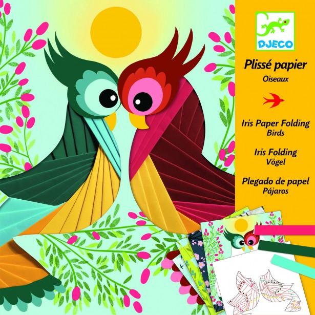 Atelier creativ cu hartie plisata Djeco - Pasari