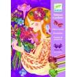Atelier creativ cu sclipici Djeco - Parfumul florilor