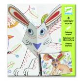 Planse de desenat cu surprize Djeco - Bunny up