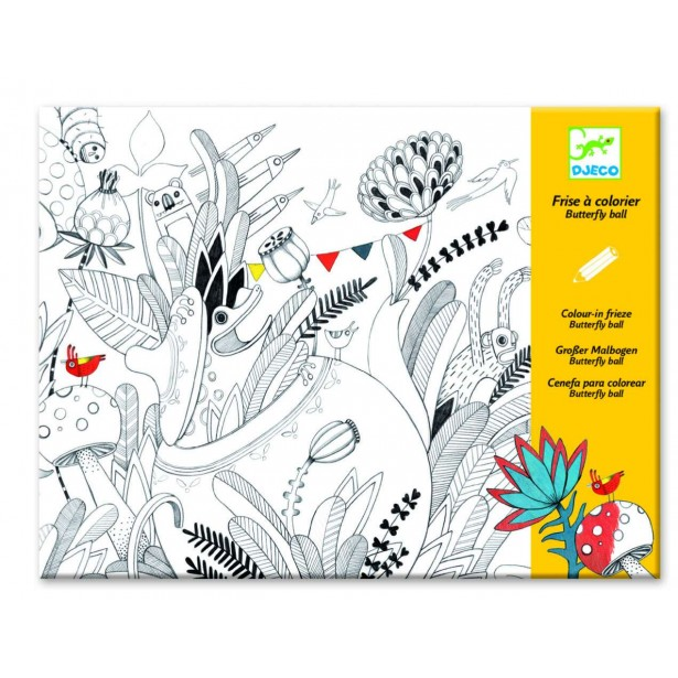 Plansa tablou desen Djeco - Balul florilor