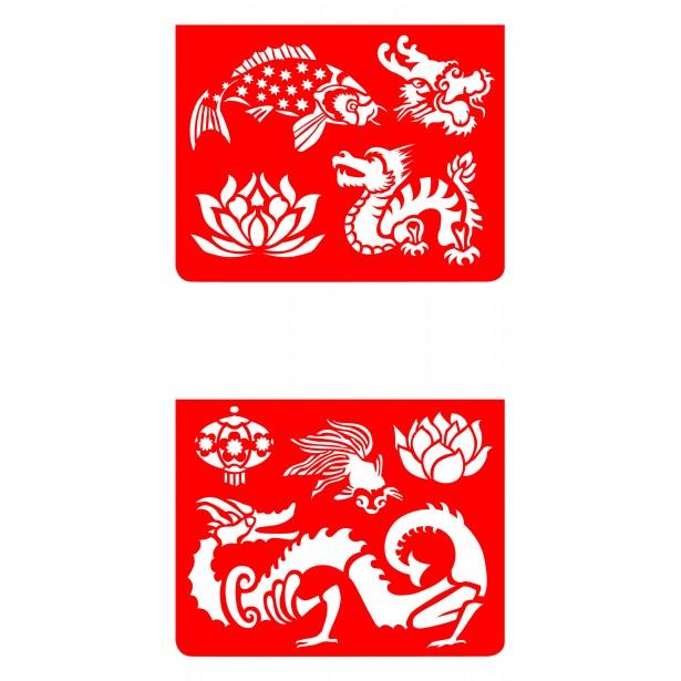 Set sabloane Djeco - Asia