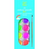12 culori Guase Djeco - neon