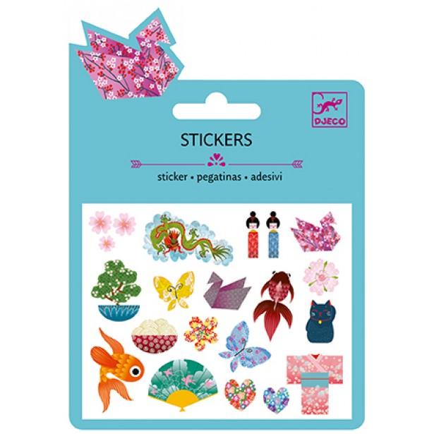 Abtibilduri Djeco - Stickere cu sclipici - set motive asiatice