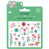 Abtibilduri Djeco - Stickere cu sclipici - set flori