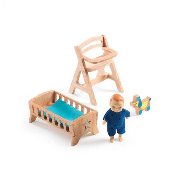 Mobila Camera bebe Djeco - joc de rol