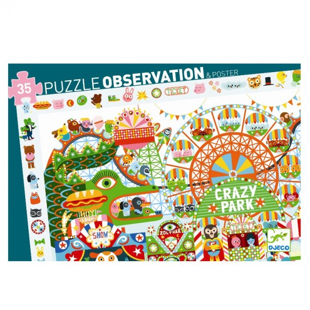 Puzzle observatie Djeco - Parcul de distractii