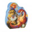 Puzzle Djeco - Cavalerul si Dragonul