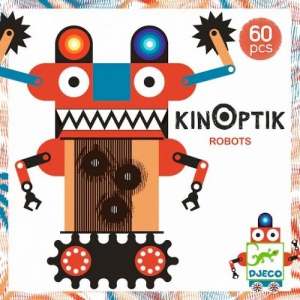 Joc magnetic Kinoptik Djeco - Roboti