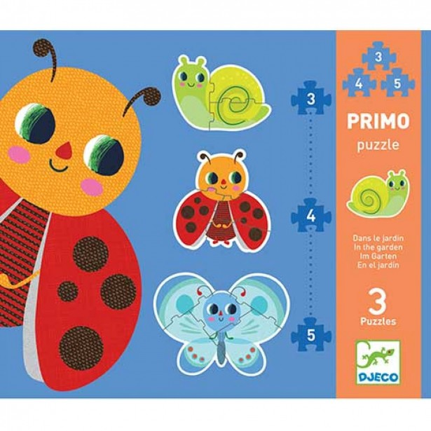 Set Puzzle-uri evolutive Djeco - in gradina