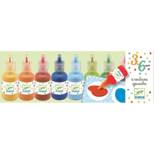 Set 8 Culori guase Djeco
