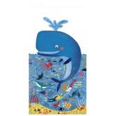 Puzzle gigant Londji - Balena albastra in ocean