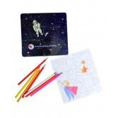 Set de desen cu piese magnetice - Astronaut Egmont