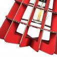 Corp de iluminat din carton - CONIC RED, Foldo Romania